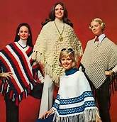 1960's Women Wearing Ponchos