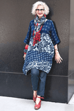 Indigo Cotton Tunic - Marjory Warren Boutique