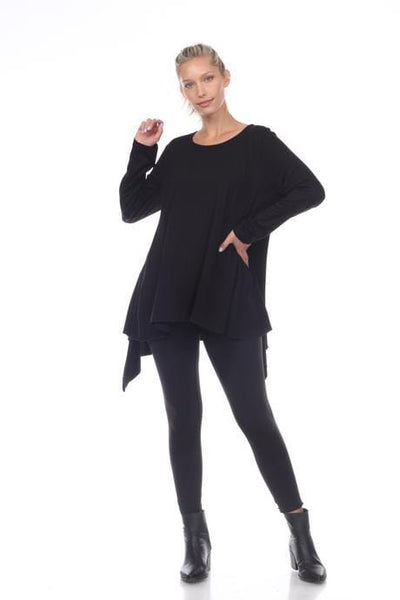 Black Swing Long Sleeve Top