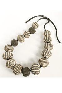 Hand Woven Irac Ball Necklace