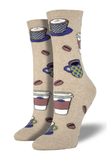Women's Trouser Socks Love You A Latte