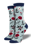 Women's Trouser Socks Floral Mofif
