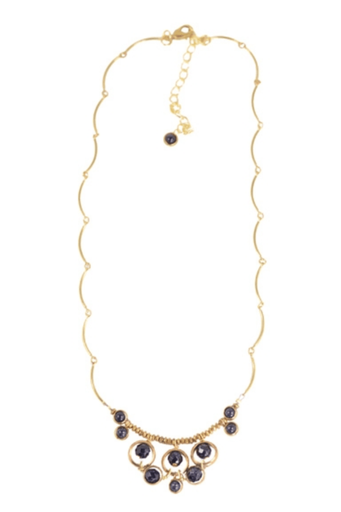 Goldstone Brass Necklace