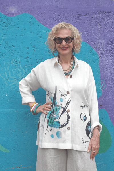 Dragonfly Riviera Shirt - Marjory Warren Boutique