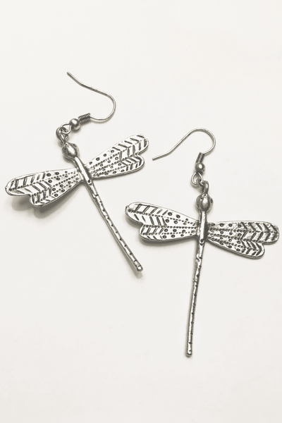 Dragon Fly Turkish Silver Earrings