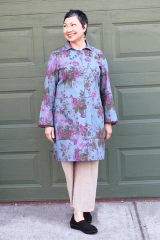 Floral Cotton Twill Jacket