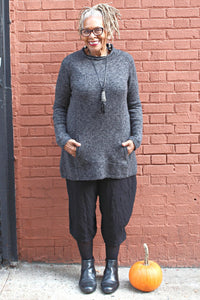 Kangaroo Pocket Roll Neck Sweater - Marjory Warren Boutique