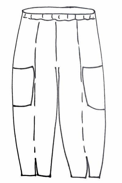Slit Front Pant Line Drawing