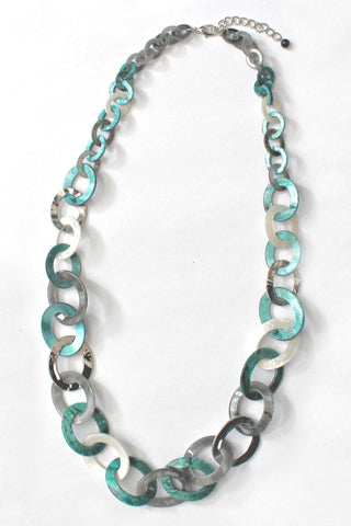 Grey Ivory Turquoise Necklace