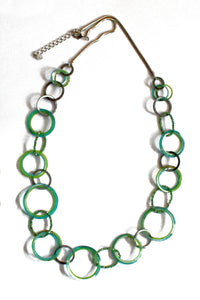 Turquoise Hoop Resin Necklace