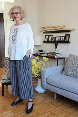 Grey and Black Stripe Pant