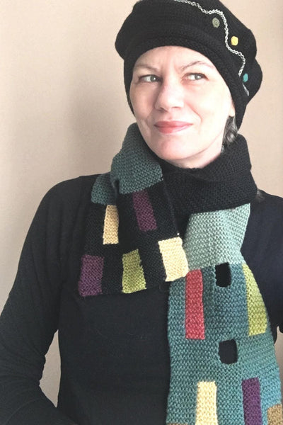 Color Block Winter Scarf