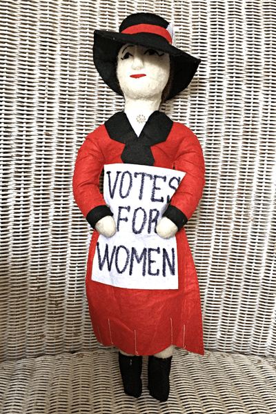 Suffragette Hand Made Felt Doll