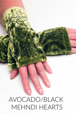 Fingerless Velvet Gloves