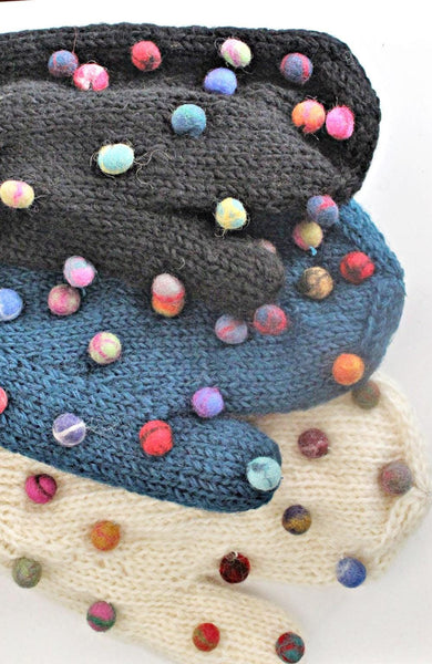 Felt Dot Mitts