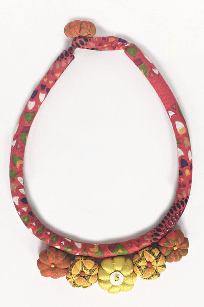 Hand Crafted Textile Necklace