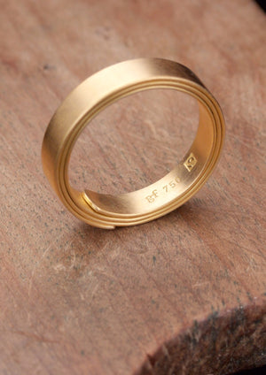 'Papyrus' Fairtrade Gold Ring
