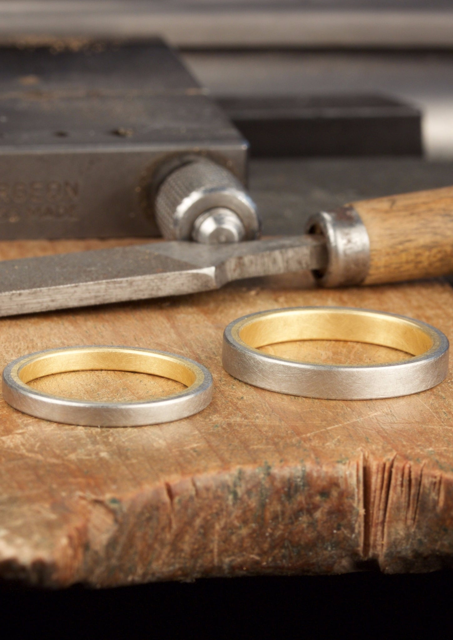 `Bicolor´White gold and yellow gold wedding rings