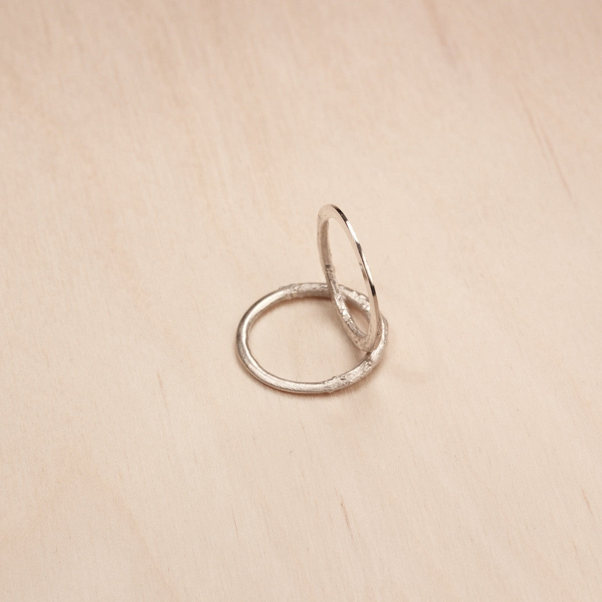 'Clay Lilite' Fairtrade silver/ gold ring