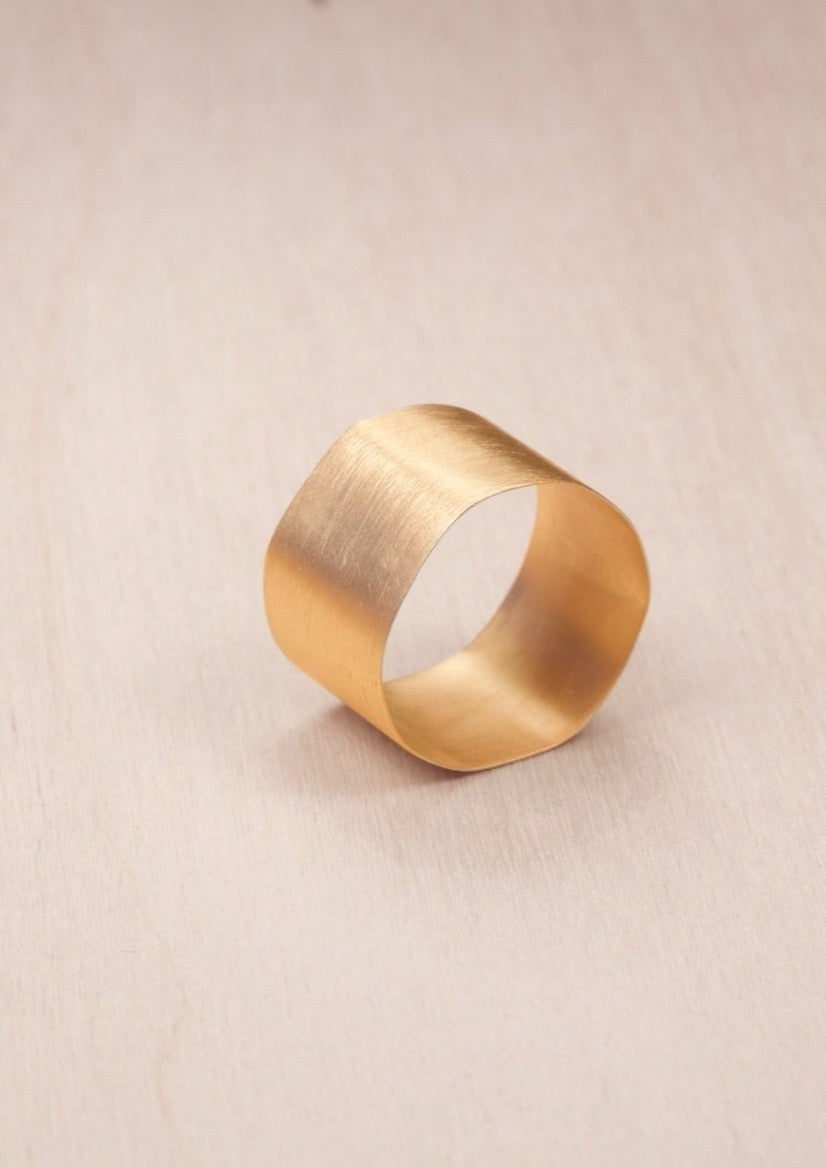 """Flawless"", fairtrade gold ring"