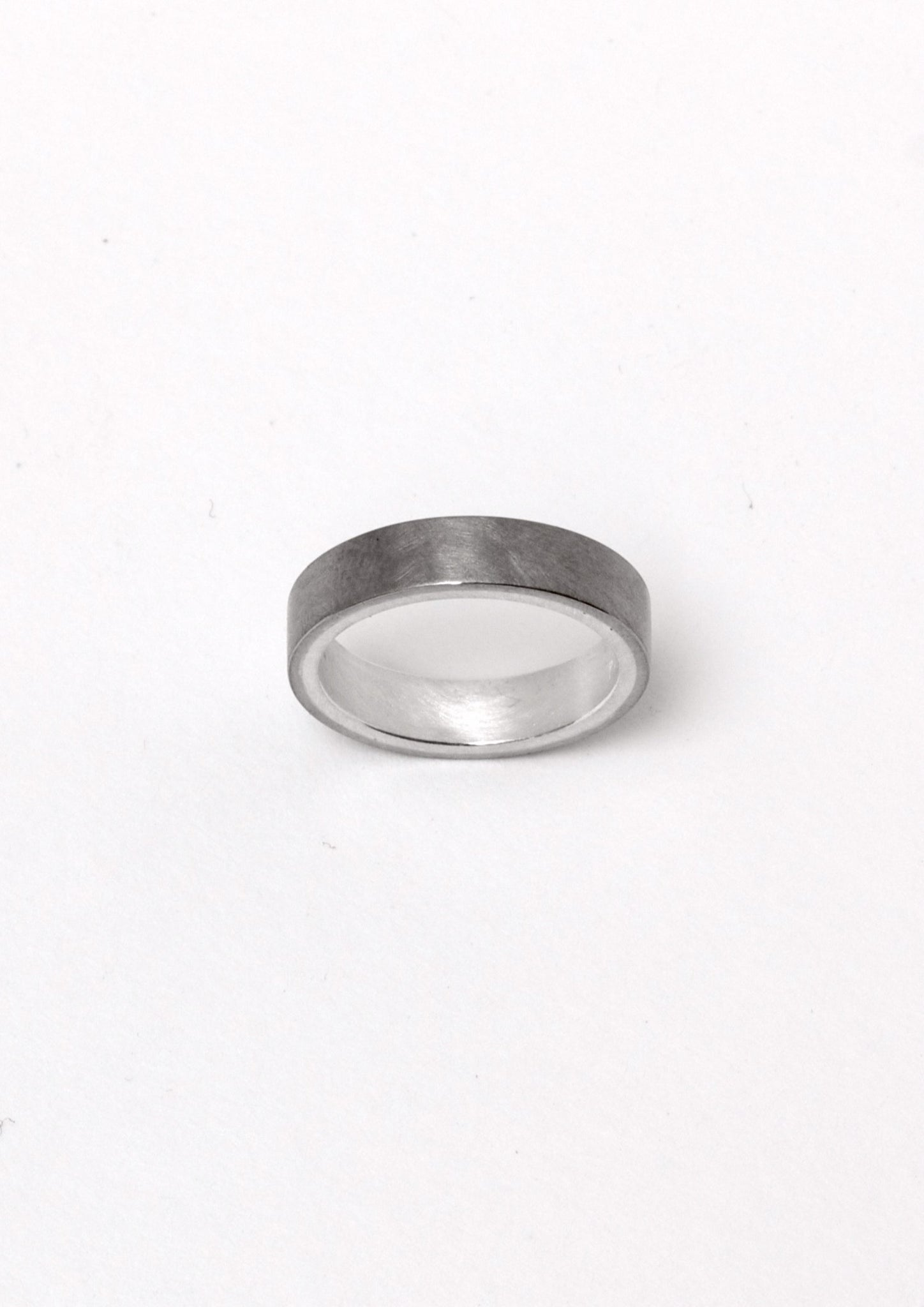 'Shades' White gold and Fine Silver Ring