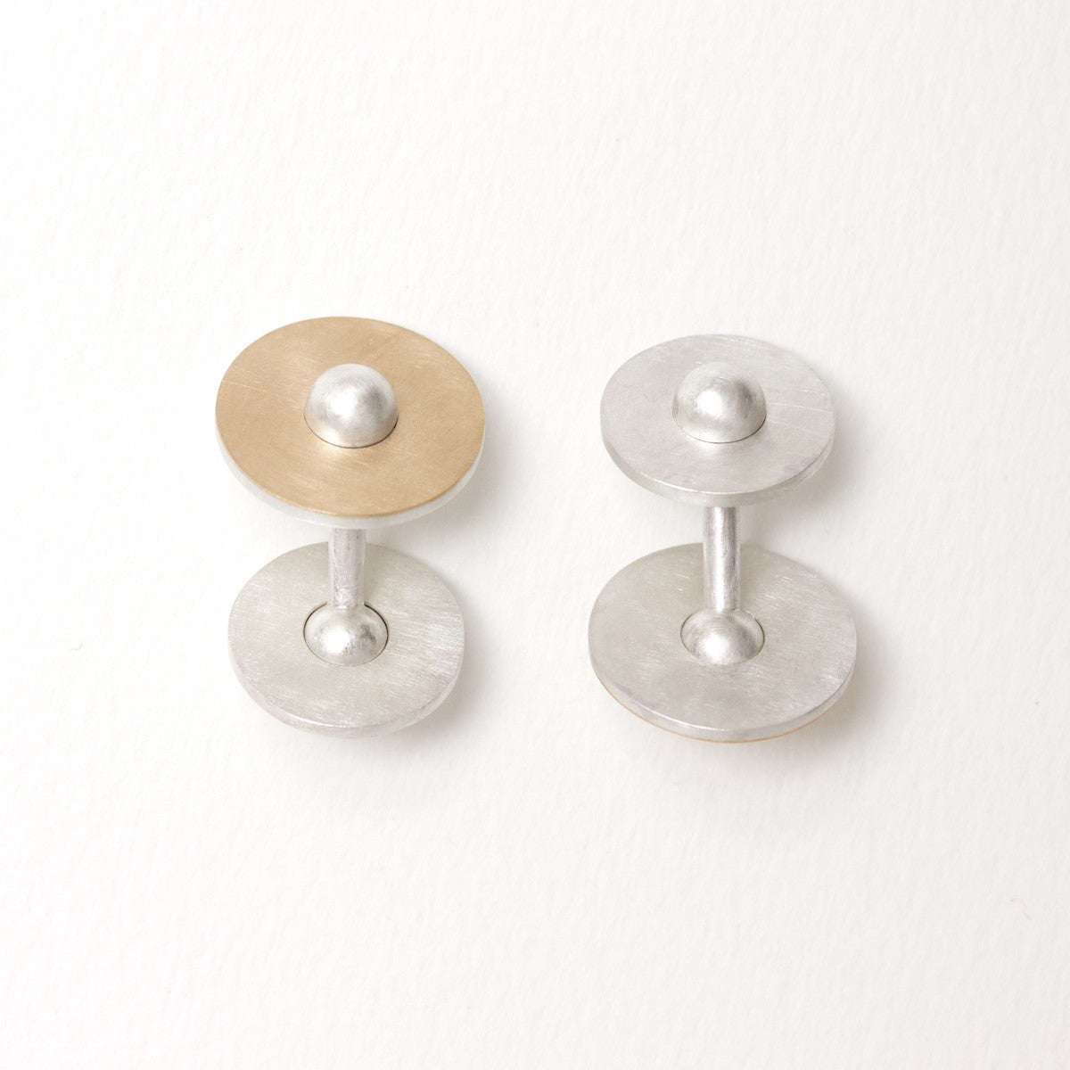 'Himmelmekanik' Gold and Silver Cufflinks