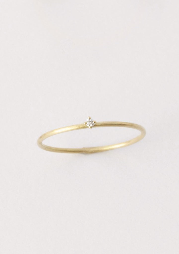 'Sakura 0,01 ct' Fairtrade Gold Diamond Ring