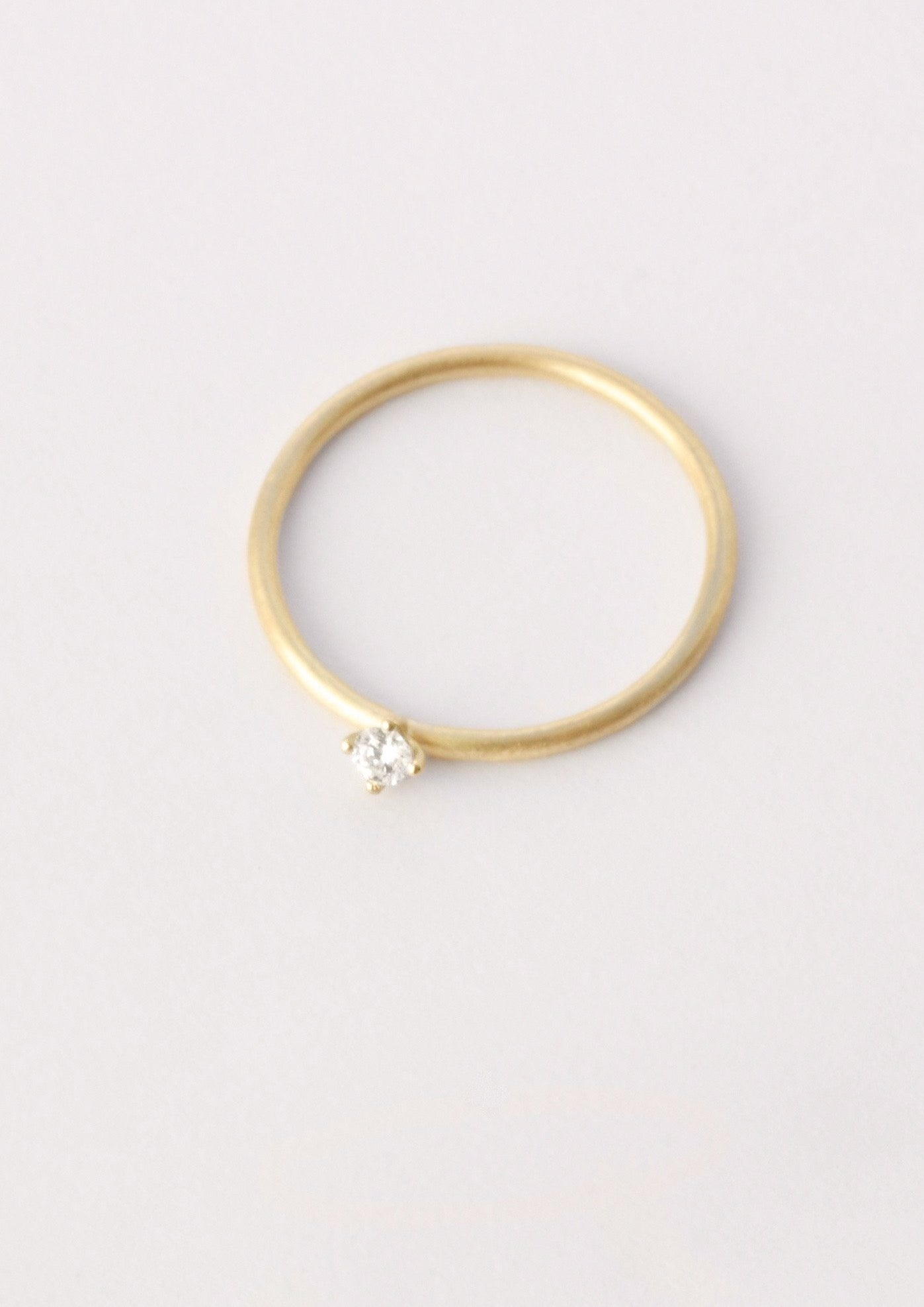 'Sakura Twist 0,05 ct' Fairtrade Gold Diamond Ring