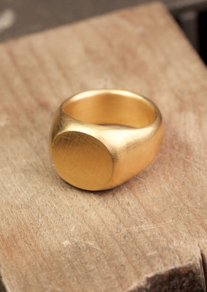 Signet ring, 18 kt Fairtrade