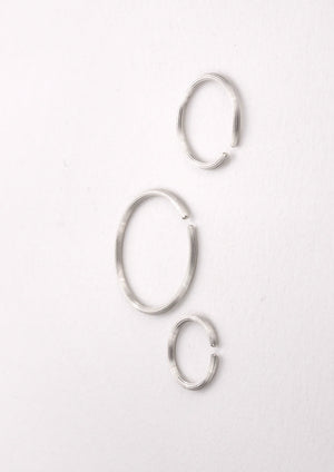 'BASIC NEEDS' Hoops, Fairtrade sterling silver