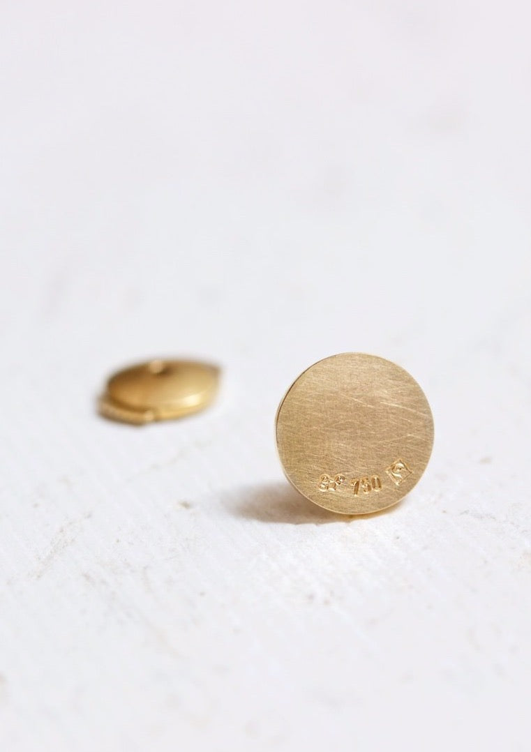 ´Basic Circle´ Earring in 18 kt Fairtrade gold