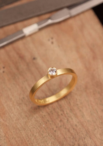 'Hinomaru' Fairtrade Gold Diamond Ring