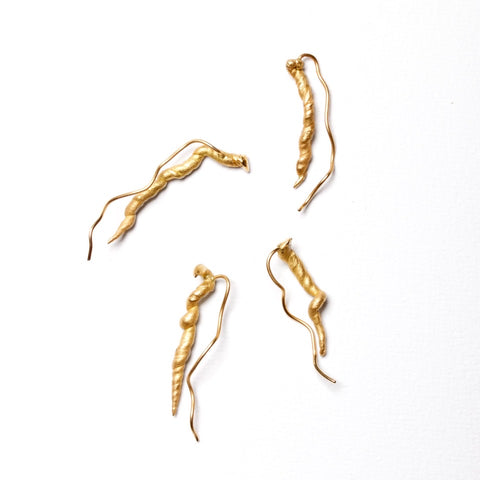 ENRICHED FROM ANY REPETITION' EARRINGS, 18 KT FAIRTRADE GOLD OR SILVER.