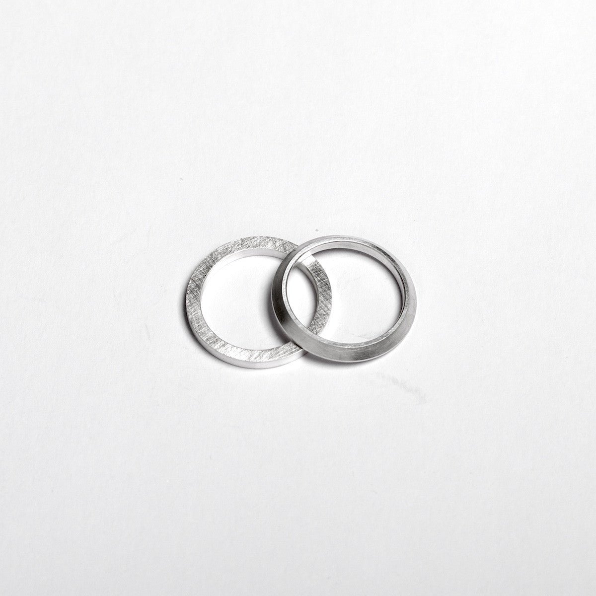 'Triangular and Square' Set of Silver Rings