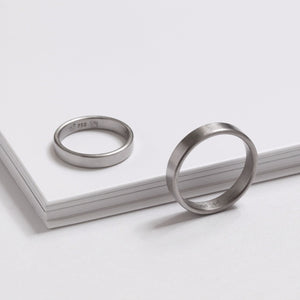 'Obround' Fairtrade White Gold Wedding Ring