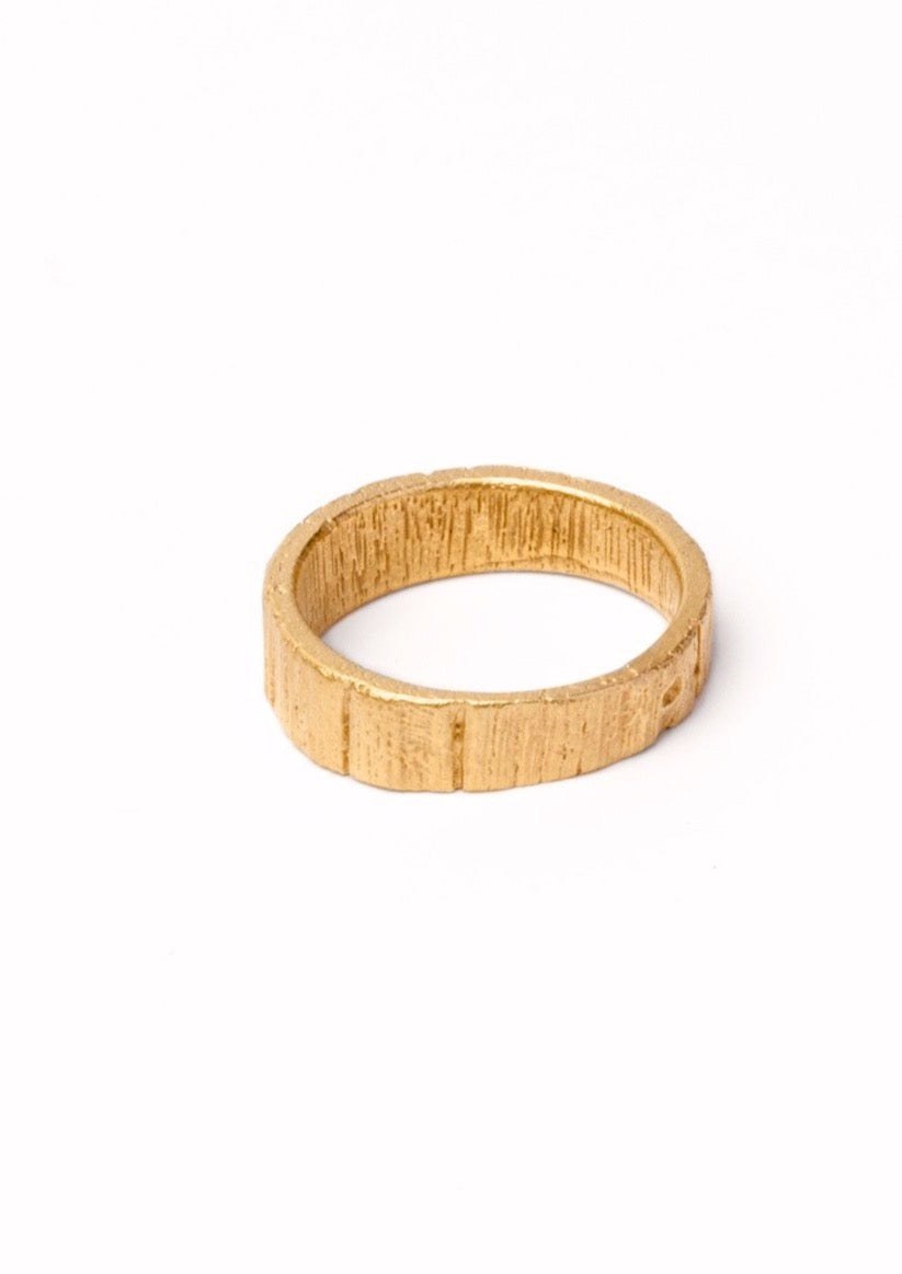 'Woodring No. 6' Fairtrade Gold Ring