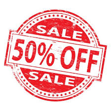 March 50% off SALE