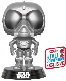 NYCC 2017 POP Vinyl - Star Wars: Rogue One - Death Star Droid Chrome