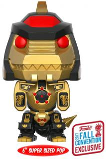 "NYCC 2017 POP Vinyl - Power Rangers - Dragonzord Black & Gold 6"" Pop!"