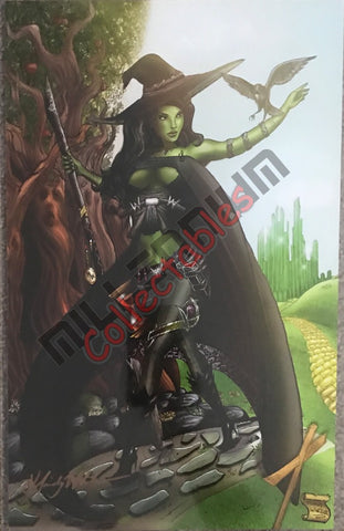Artist Autographed Print - Mindy Wheeler - Wicked Witch