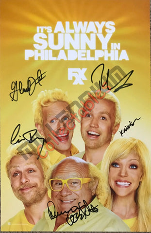 SDCC 2013 Exclusive Autographed Poster - Always Sunny in Philadelphia