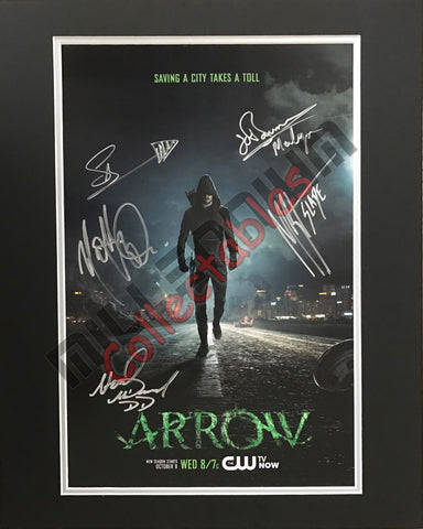 ARROW Cast Poster Signed