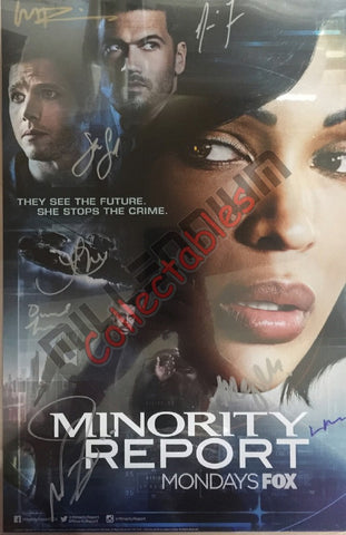 NYCC 2015 Exclusive Autographed Poster - Minority Report Cast