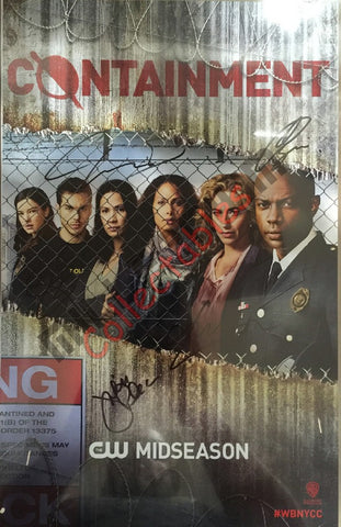 NYCC 2015 Exclusive Autographed Poster - Containment Cast