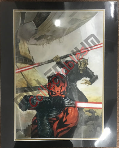 Artist Autographed Print - Dave Dorman - Star Wars - Maul and Savage