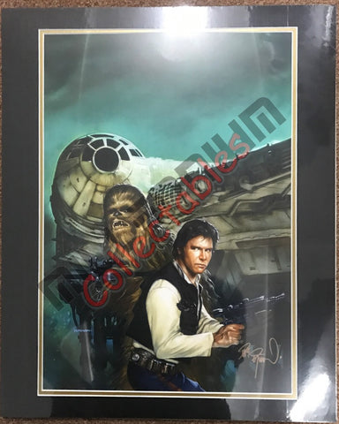 Artist Autographed Print - Dave Dorman - Star Wars - Han and Chewbacca