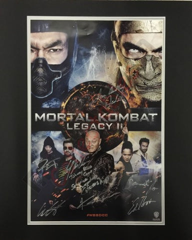 SDCC 2013 Exclusive Autographed Poster - Mortal Kombat Legacy 2 Cast Signing