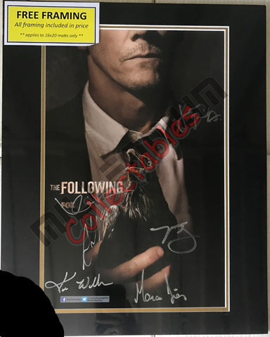 SDCC 2013 Exclusive Autographed Poster - The Following Cast Signing