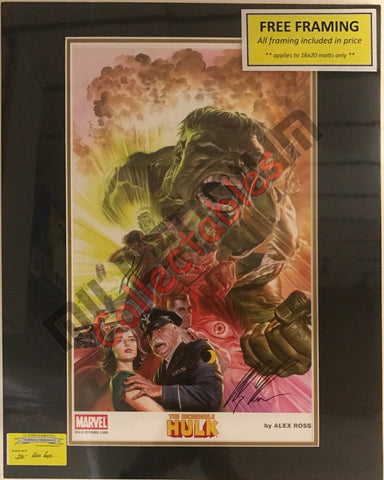 Artist Autographed Print - Alex Ross - Incredible Hulk