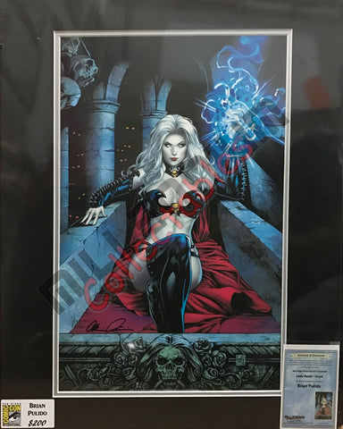 Artist Autographed Print - Brian Pulido - Lady Death - Crypt